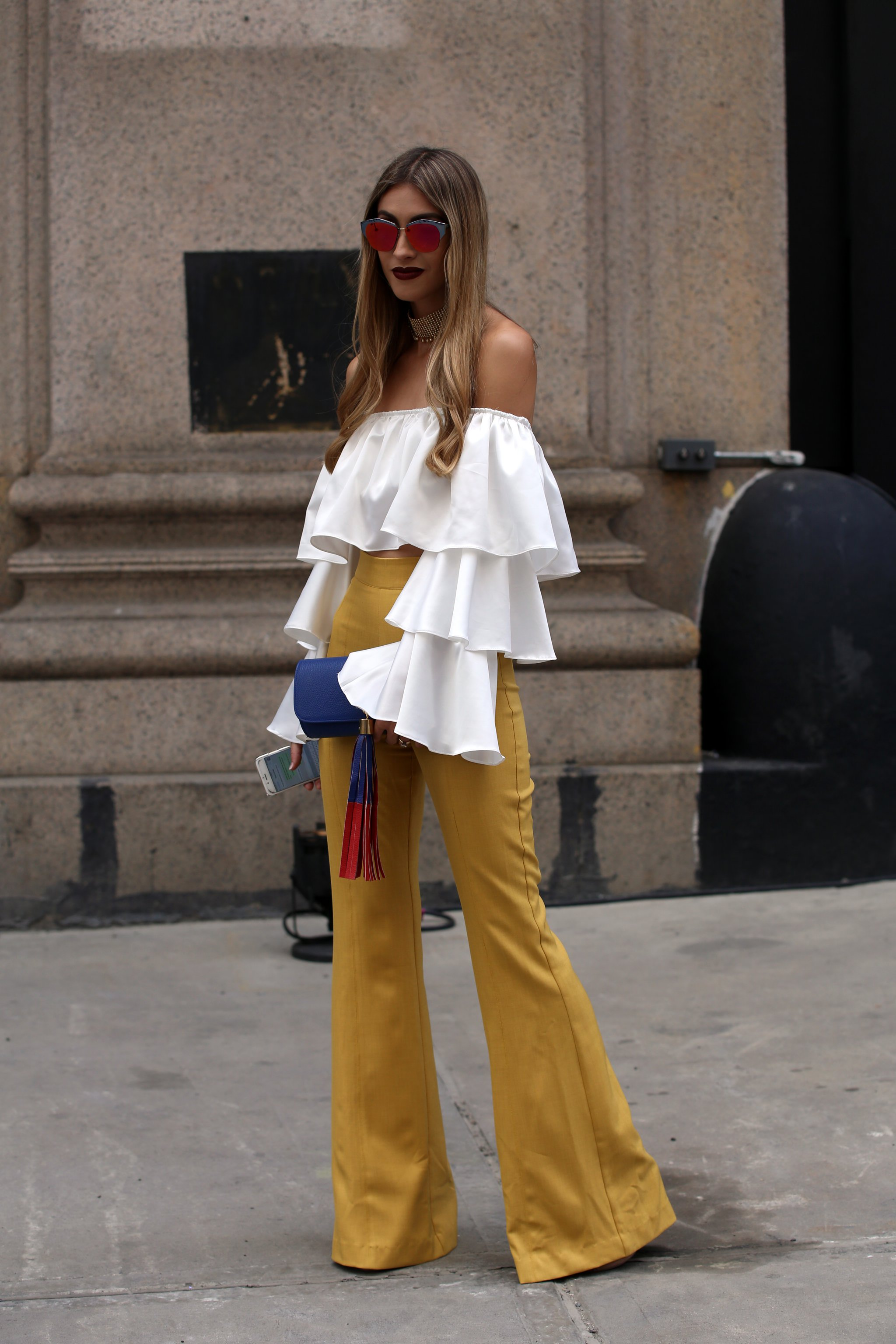 Image result for white ruffle sleeve crop top