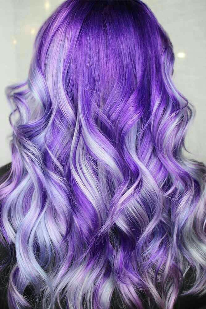 Pretty Purple Ringlets And Silky Purple Waves Violet Hair